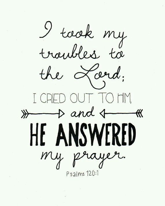 I Took My Thoughts to the Lord…